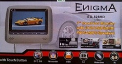 HEADREST TV MOBIL,DVD,GAMES,USB,SLOT MEMORY CARD ENIGMA EG-828HD (AUDIO MOBIL)