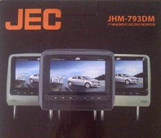 HEADREST TV MOBIL DVD JEC