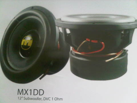 SUBWOOFER MOMENTUM MX1DD SPL COMPETITION SERIES