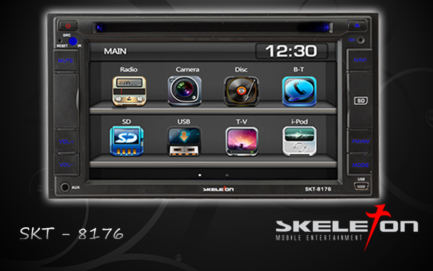 HEADUNIT TV MOBIL DOUBLEDIN SKELETON SKT-8176