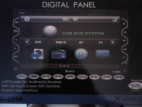 HEAD UNIT TV MOBIL DOUBLE DIN LAYAR 7 INCH X-DRIVE XD-6994
