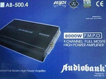 POWER MOBIL 4CH AUDIOBANK AB-500.4