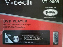 HEADUNIT SINGLE DVD PLAYER V-TECH VT-9009